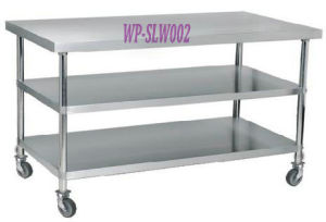 Kitchen Stainless Steel Work Table with or Without Wheel pictures & photos