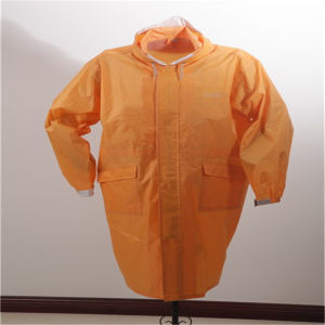 Protective Eco-Friendly Long Raincoat with Hood for Adult pictures & photos