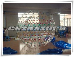 Beautiful Colorful Dots Inflatable Zorbing for Sale pictures & photos