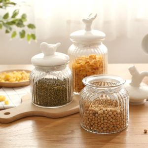 Glass Jar/Food Jar/Preseving Glass Jar/Glass Container/Kitchen storage Jar/Jam Jar pictures & photos