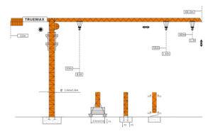 Truemax Tower Crane Hoist Crane (TCP6013) pictures & photos