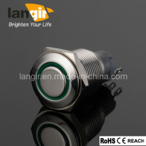 Metal LED Push Button Switch with Ring Illumination (L16-F/M1/N) pictures & photos