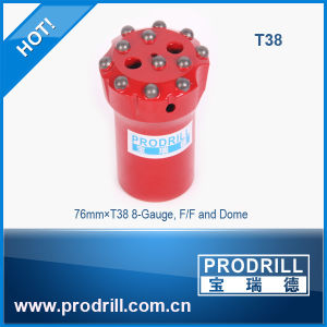 Q12-76mm T38 8-Gauge Flat Dome Threaded Drill Bits pictures & photos