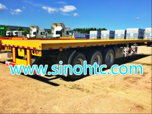 3 axel flat bed trailer, Container Semi Trailer For Sale pictures & photos