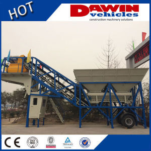 Mobile Concrete Batching Plant Yhzs40 Ready Mix for Sale pictures & photos