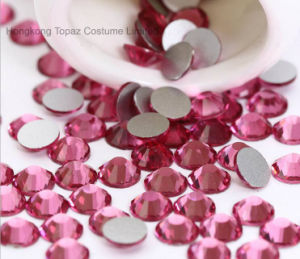 Crystal Glass Rhinestone 5mm Rose Nail Flat Back Non Hot Fix Rhinestones Flatback Non Hotfix Crystals (FB-ss20/5mm 3A) pictures & photos