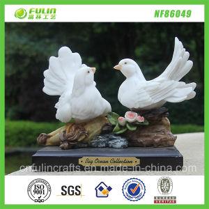 Handmade Resin Pigeons Desk Ornament (NF86049)