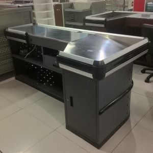 Metal Retail Cashier Checkout Counter for Supermarket pictures & photos