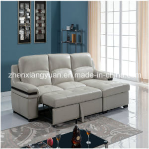 Furniture Sofa Bed, Living Room Furniture, Leather Corner Sofa Bed (A-3725)