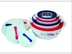 4 PCS Plastic Food Warmer Set pictures & photos
