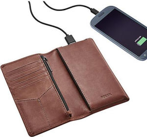 Real Leather Wallet Rechargeable Purse Rechargeable Notecase Rechargeable Burse with Power Bank Inside (YSX02) pictures & photos