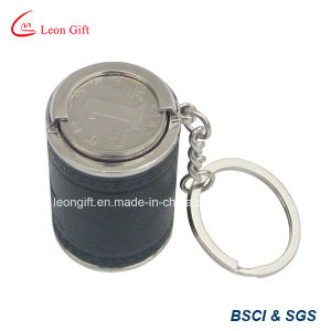 Leather Material Coin Holder Keyring for Collection pictures & photos