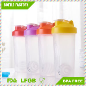 600ml Plastic Protein Shaker Bottle with Stainless Steel Ball pictures & photos