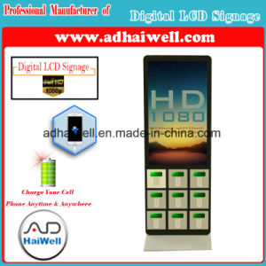 Airport Shopping Mall Digital Signage LCD Display Multi Cell Phone Free Charging Kiosk pictures & photos