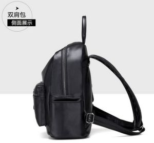 2017 PU Leather Ladies Backpack High Quality Travel Bag (LDO-01663) pictures & photos