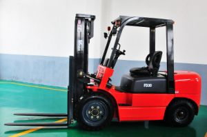 Chinese 3 Ton Diesel Forklift with 3 Stage Mast, Lifting Height 4.5m