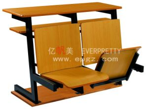 School Furniture Wooden College Step Chair with Desk pictures & photos