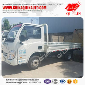 Yuejin 4X2 1 Ton Light Breast Board Truck with Gasoline Engine pictures & photos