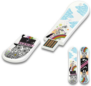 Skateboard Shape USB Flash Drive Plastic Flash USB pictures & photos