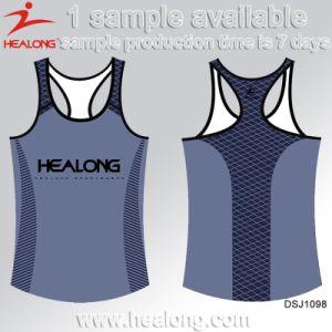 Healong Personalized Designer Dye Custom Sublimation Singlet pictures & photos