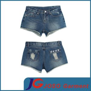 Women Ripped Denim Shorts (JC6048) pictures & photos