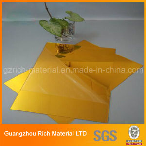1220*1830*1.0mm Golden Acrylic Mirror Plastic Sheet pictures & photos