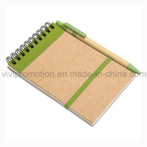 Popular Cheap Customized Spiral Notebook Wtih Pen (PNB006) pictures & photos