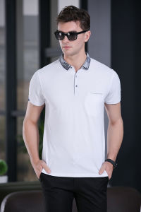 Contemporary Plain Men′s Short Sleeve Breathable Slim Fit Hot Sale Casual Knit Polo Shirt pictures & photos