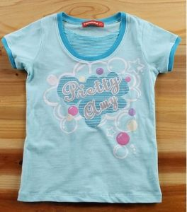 2014 Fashion Custom Printing T-Shirt for Children, Kids, Girls (YHR-13127)