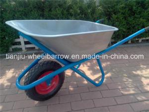 Wb6418 Glavanized Construction Wheelbarrow for Sale pictures & photos
