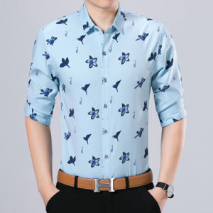 Button Down Business Shirt for Men′s Clothes with Lily Pattern pictures & photos