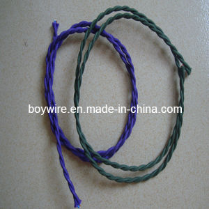 100% Fine Copper Circular Colorful Polyester Braided Twisted Wire pictures & photos