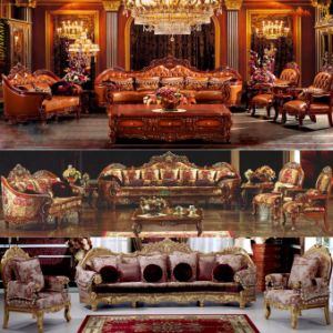 Classic Leather Sofa for Living Room Furniture (605) pictures & photos