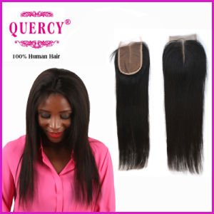 Swiss Lace 8A Remy Straight Indian Human Hair Closure (CL-024) pictures & photos