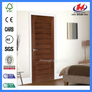 HDF Wood Modern Wooden Construction MDF Interior Flush Door (JHK-001) pictures & photos