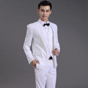 2017 Vogue Fashion Style White Wedding Suit Elegant Suits pictures & photos