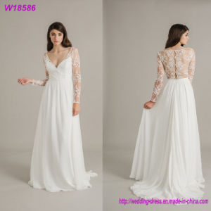 Hot Sales Sleeveless Bride Dress Elegant Lace Wedding Dress pictures & photos