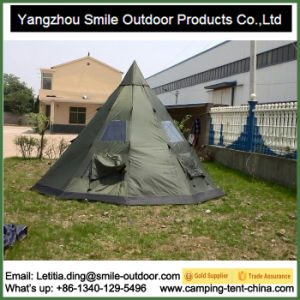 8-10 Person Spike Top Outdoor Camping Teepee Tent pictures & photos
