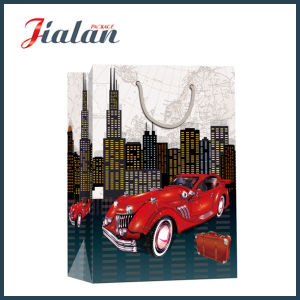 128GSM Coated Paper Car Printed Shopping Carrier Gift Paper Bag pictures & photos