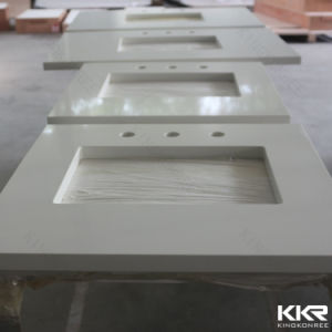 Precut Commercial Solid Surface Vanity Top for Bathroom pictures & photos