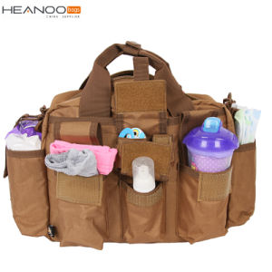 Green OEM Travel Mummy Designer Tote Changing Nappy Baby Diaper Bag pictures & photos