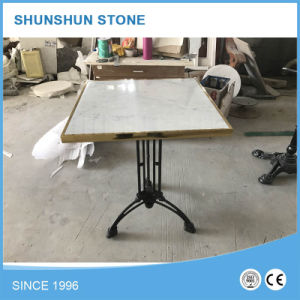 High Quality Carrara White Marble Round Table Top pictures & photos