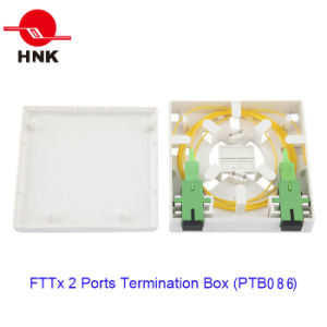 FTTH 86 Type 2 Ports Fiber Optic Cable Termination Box pictures & photos