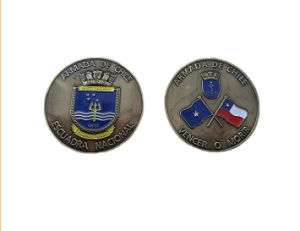 High Quality Antique Silver Plated 3D Metal Challenge Coin pictures & photos