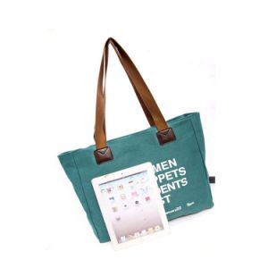 Fashion Lady Handbags Casual Canvas Shoulder Bag Travel Shopping Bag pictures & photos