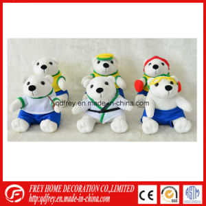 White Stuffed Teddy Bear with Christmas Scarf pictures & photos