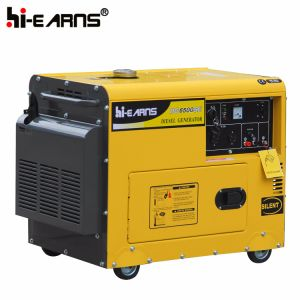 Air-Cooled Silent Type Diesel Generator Single Phase (DG5500SE) pictures & photos