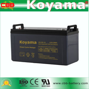 DC120-12 12V 120ah Deep Cycle Motive Battery AGM Battery pictures & photos