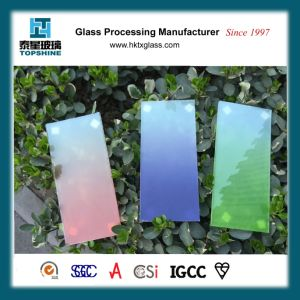 High Temperature Silkscreen Printing Tempered-Glass, Gradual Color Change Glass pictures & photos