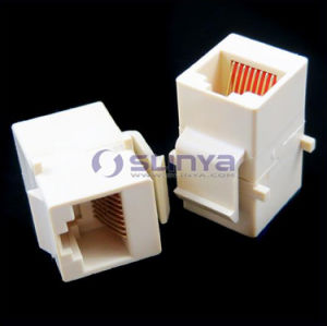 Cat5 Cat5e RJ45 Connector Plug Socket RJ45 Network Cable Blank Panel Patch RJ45 Extender Plug Joiner Coupler Adapter RJ45 Inline Coupler Type Keystone Jack pictures & photos